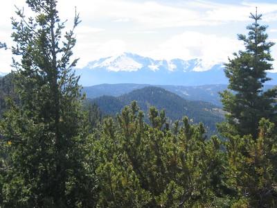 Pikes Peak to SSW.