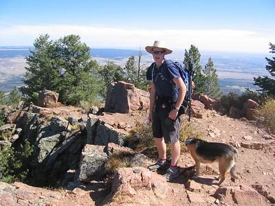 Josh and Zoie Mitchell on summit - 10/10/04