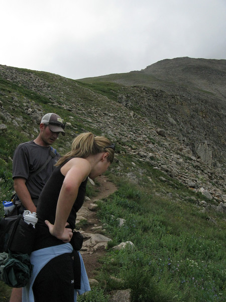 Summit ridge looming up ahead.