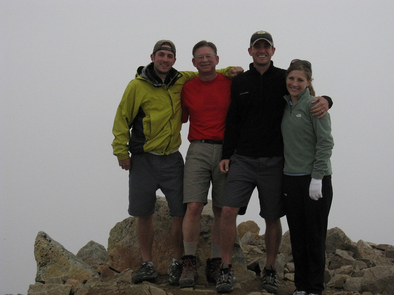 This is our fifth consecutive annual 14er trip. .. Past summits in order: Longs Peak, Mt of the Holy Cross, Grays Pk and Mt Evans - all in this Smugmug site.