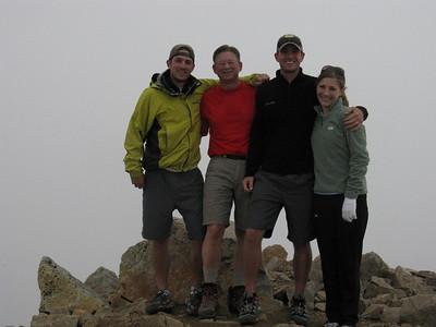 Adventuring on Huron Pk with Tom, Chris, Pat & Emily, 8/1/10