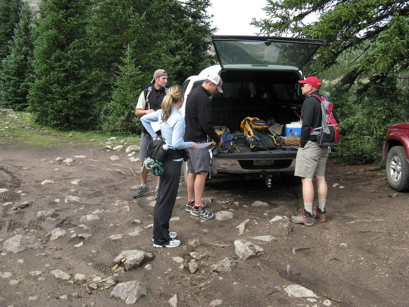 Tom contributed the Toyota Tundra to handle the rough 4WD road to the higher trailhead.