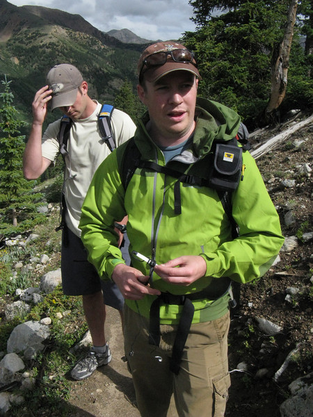 Next weekend he flies to Seattle for a climb of Mt. Rainier (14,411).