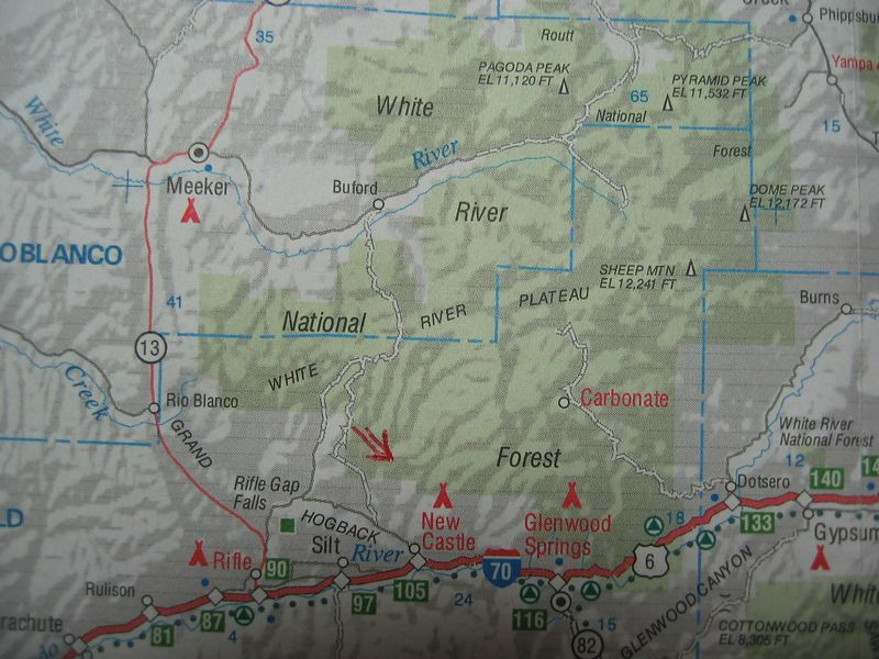 Keep this a secret: we're in the White River NF, a little north of New Castle - about fours hrs from COS.