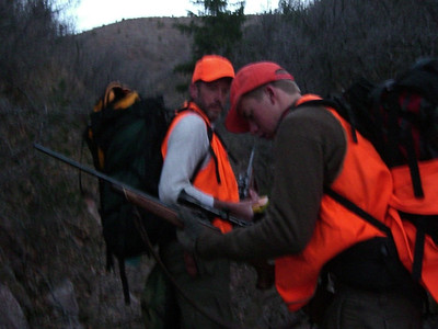 OK - quietly returning to our hunting site.