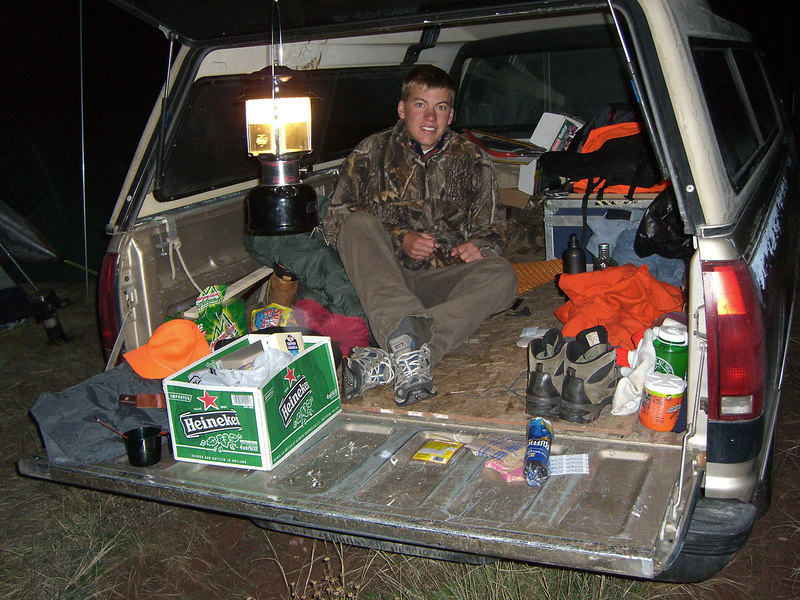 OK - rarin' to go at 0500 Sunday. Ben slept in the truck.