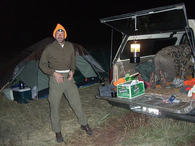Happy Rick - he had just dumped something in the tent!