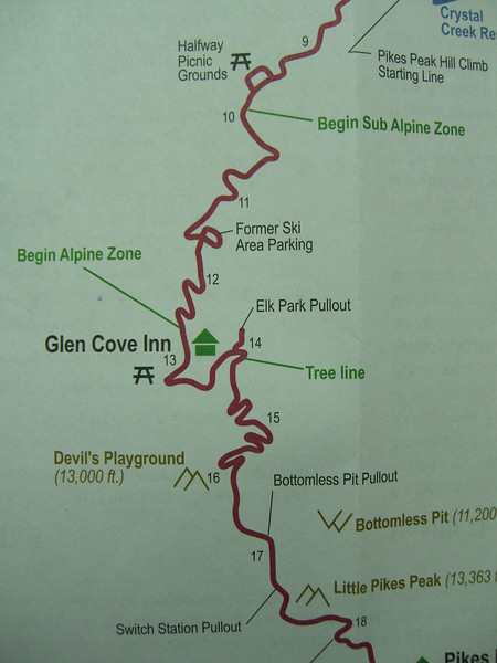 Elk Park is near Mile 14 and the 12,000' mark.