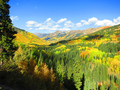 Monday afternoon - driving south now from Ouray on the San Juan Skyway (Hwy 550). .. Colorado IS colorful!