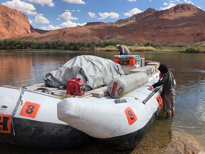 "Lee's Ferry, ""Mile 0"" along the Colorado, is the only place to launch until near Lake Mead. .. However, the best 188 miles of gnarly river adventuring await us!  ... We'll refill the water jugs at the Phantom Ranch stop, Mile 88."