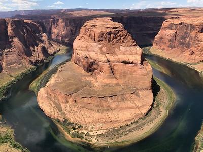 Below Page, Horseshoe Bend on the Colorado River. .. Weblink below.