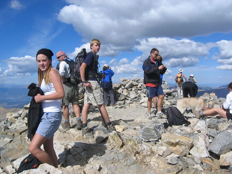 YES, we are there: Grays, 14,270' - Johanna's first 14er and Ben's second (after Pikes Peak).