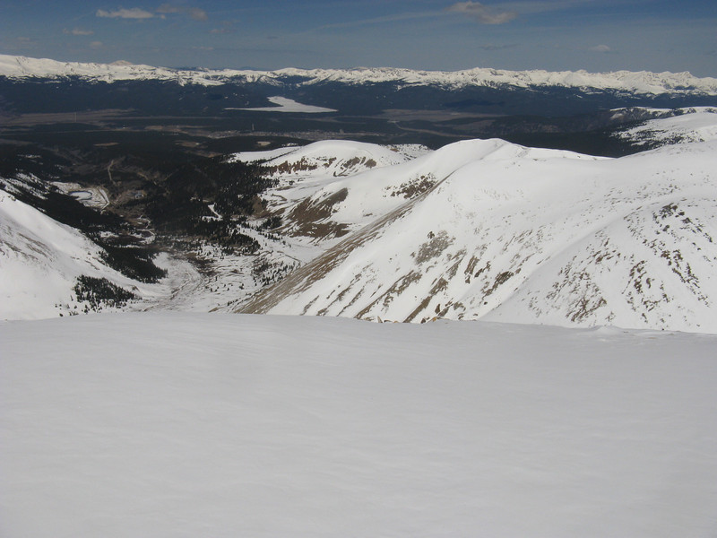 View to the west - Turquoise Lake beyond Leadville.