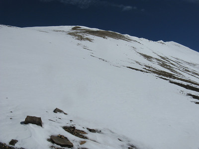 Approaching ridge leading to the summit.