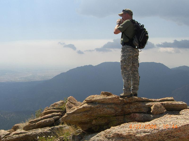 Rick atop Tenney Crags.