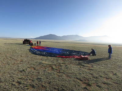Balloons almost always launch early in the morning, when the wind is likely to be most friendly.