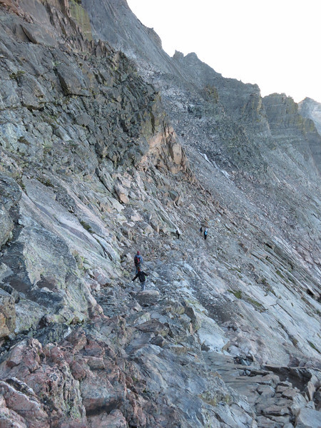 Yep, there are some big ups and downs - not a level traverse.