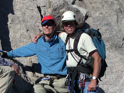 Gnarly Bill with Ranger Jim Detterline. Jim knows how to wear his visor better than I do!