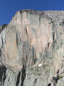 Can you see climbers on the face?   Our route goes close to right edge above the sheer face.