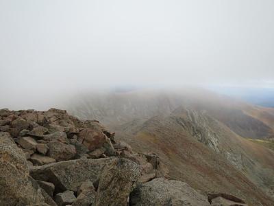 View down long east ridge.