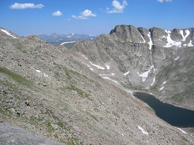Part of Sawtooth Ridge showing in the middle.