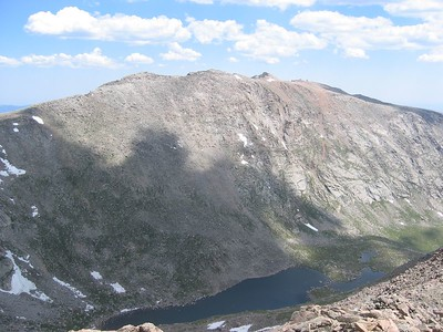 Summit of Mt Evans barely visible right of center.