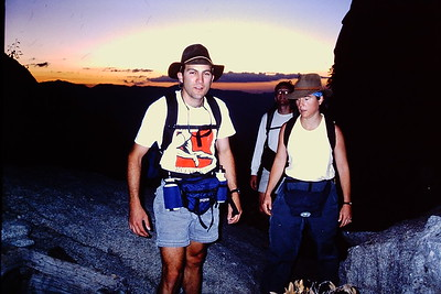 Yep - a young  Lou & Clare on the 8/21/99 climb.