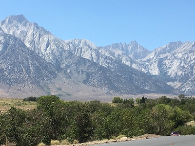 OK, Sunday afternoon and Bill is on the way to Whitney Portal for an advance  recon.
