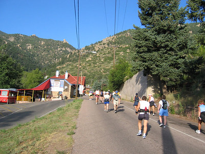 Up Ruxton Ave and past the Cog Railway Station.