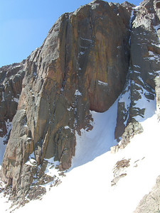 Upper view.  This buttress is the Corinthian Column; nice ice climb on it's right edge - don't you think?
