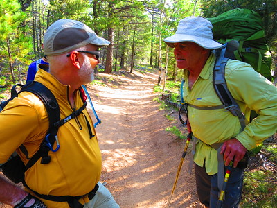 Running into a fellow parishioner from Grace, on his way down from Barr Camp.