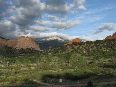 Sunday, 6:45 am - passing Garden of the Gods enroute to the Crags Trailhead.