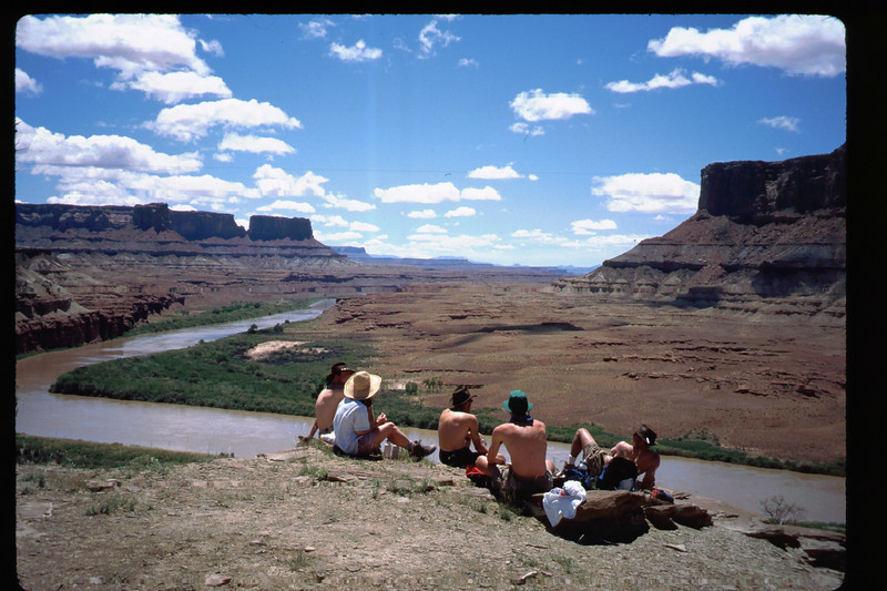 A lazy day on (or above) the Green River. .. Debbie never caught on to the shirtless style.