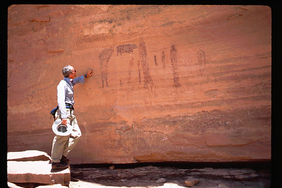 Fragile pictographs, not petroglyphs. ..Go ahead and smudge it, Bill.
