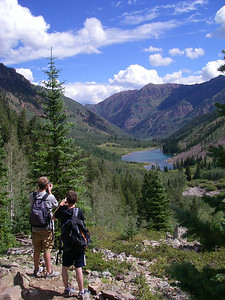 Looking back toward Maroon Lake.