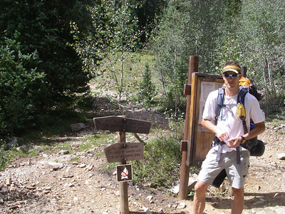 Close to our camp: Junction for Buckeye Pass. .. We'll start up this trail early tomorrow.