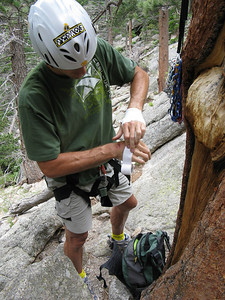 Brett is becoming the serious crack climber!