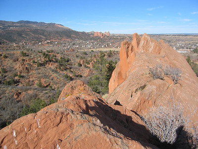 Looking north to Garden of the Gods - same geology.  Is this an awesome day in Colorado or what!