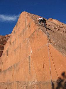 "Rick expertly working edge on ""Old'N"" (5.6)."