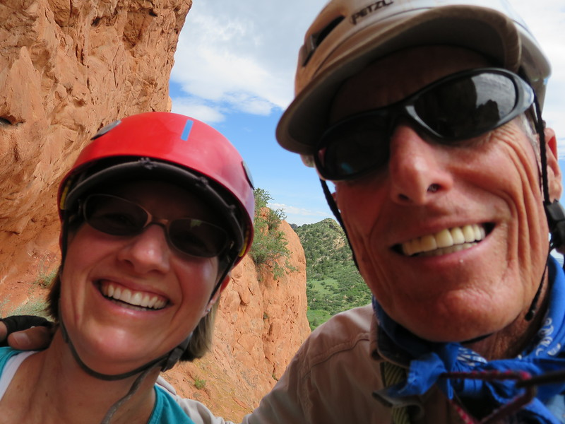 Two happy campers - make that climbers. :)