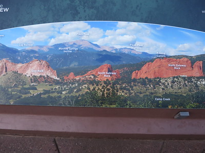 As seen from Visitors Center - we're aiming to top out on South Gateway Rock.