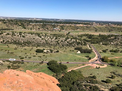 View to east, with the Garden of the Gods Club on ridge, left of center.