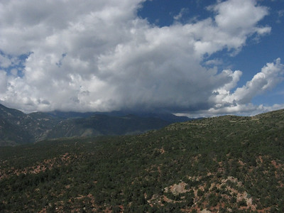 Hmm, looks like storm clouds have now captured Pikes Peak - are we next?