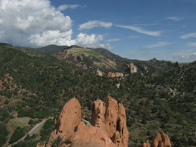 View NE toward the rock formations by Glen Eyrie.