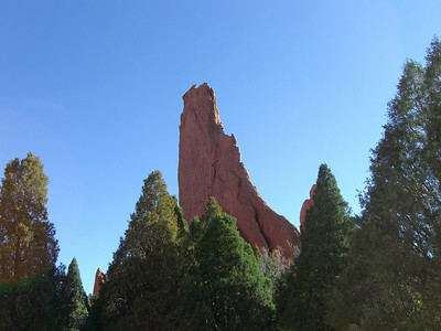 USAFA Cadet Troy Egbert leading the North Ridge of Montezuma's Tower Garden of the Gods, Colorado Springs