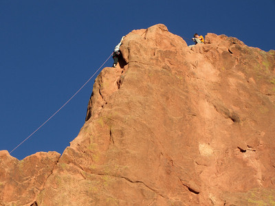Taking pictures while belaying is an art!
