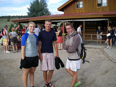 Reunited after our Montezuma's Tower adventure: Laura, Ben and Craig - ready to raft. Craig had generously invited us to go rafting and climbing with him - an offer we could not possibly decline.