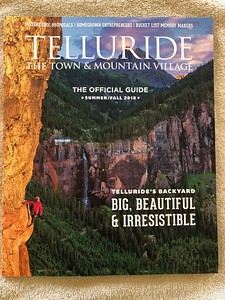 The cover of the Summer/Fall 2018 issue - a shot on the Via Ferrata.