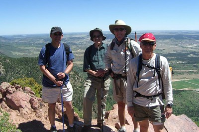 Happy Hikers: Danny, Jack, Bill & Mike. [Dakota took the shot!]