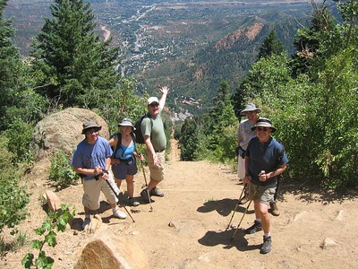At the top of The Incline - nice short-cut (if you don't trip). We took the Barr Trail back down.